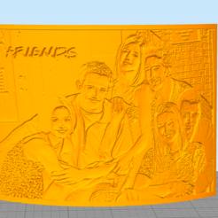 friends.PNG Download STL file Litofania Friends • 3D printer design, Litoprint