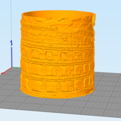 coliseo.PNG Download STL file Litofania circular coliseum Rome • 3D printer object, Litoprint
