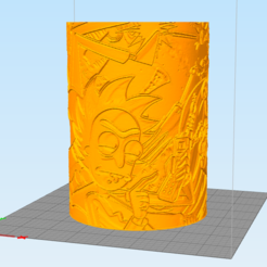 rick1.PNG Download STL file Litofania cylinder by Rick and Morty • 3D print object, Litoprint