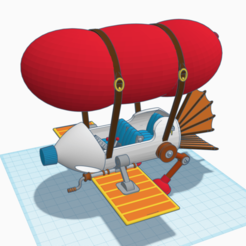 Download free 3D printing designs Chip 'n Dale - Rescue Rangers Blimp Plane, MrJansen82