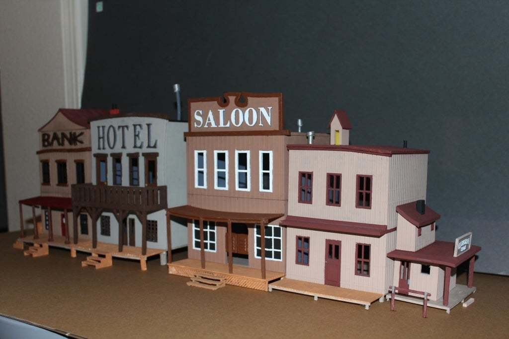 OldWest004a.jpg Download free STL file Old West - Main Street • Object to 3D print, MiniMe