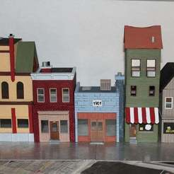 Download free 3D print files Small Town USA - Diorama, MiniMe