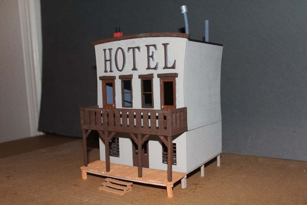 OldWest008a.jpg Download free STL file Old West - Main Street • Object to 3D print, MiniMe