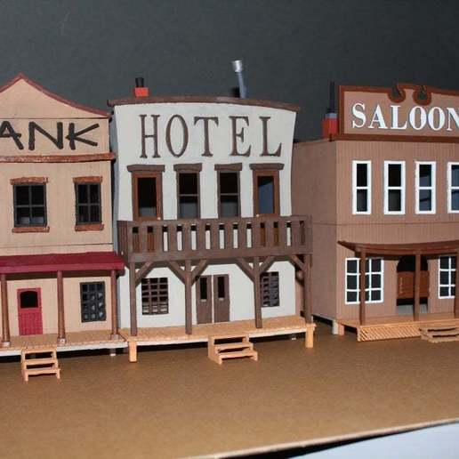 OldWest002a.jpg Download free STL file Old West - Main Street • Object to 3D print, MiniMe