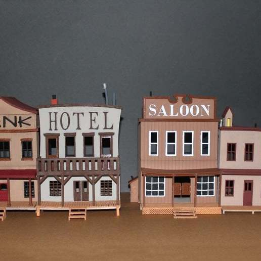 OldWest001a.jpg Download free STL file Old West - Main Street • Object to 3D print, MiniMe