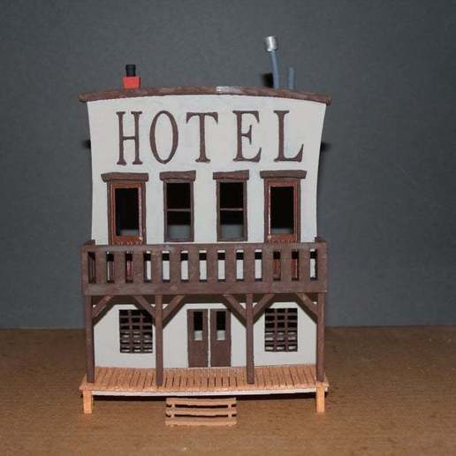 OldWest007a.jpg Download free STL file Old West - Main Street • Object to 3D print, MiniMe