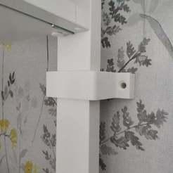Download free STL file wall securing bracket for Ikea elvarli wardrobe. • 3D printer object, coastermad