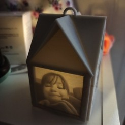 1606330163305.jpg Download STL file Lithophane Memory Lantern • 3D printing object, coastermad