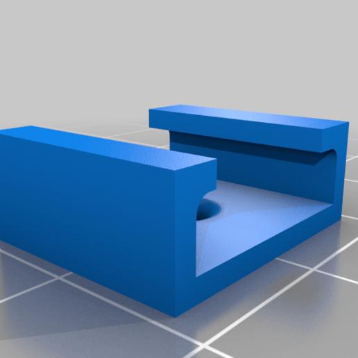 hue_clip.png Télécharger fichier STL gratuit Clip de la bande LED Philips Hue • Plan pour impression 3D, coastermad