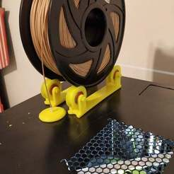 Download free STL files Filament spool holder, coastermad