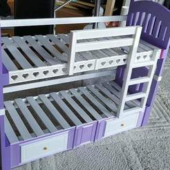 Download STL file Generation Dolls bunk bed or single bed • 3D print object, coastermad