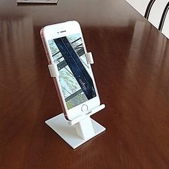 Download 3D printer model Iphone / smartphone / cellphone desk holder UPDATED !!, rambaldi
