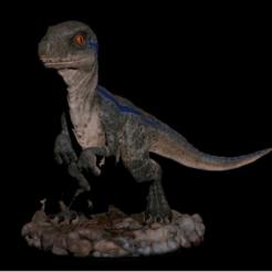 Impresiones 3D Dinosaur, Velociraptor baby Blue, HydraBot