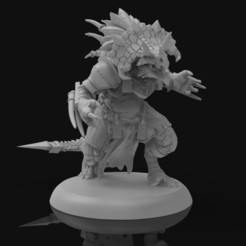 templar01.jpg Download STL file Star player Lizardman • 3D printing object, Polymorfminis