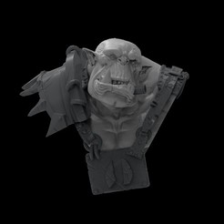 orkbust.jpg Download STL file Orc Bust • 3D printable object, Polymorfminis