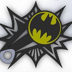 Download 3D printer templates keychain Batsignal Batman key ring, Rooster_3D