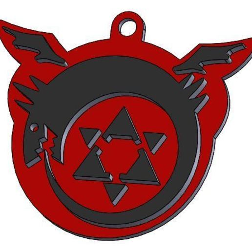 llaverox1.JPG Download STL file Full Metal Alchemist 1 key ring • Template to 3D print, Rooster_3D