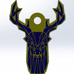 Download free STL file Deer Key Chain • 3D printable design, Adme