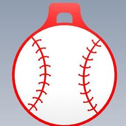 Download free 3D model Customizable baseball keychain, Adme