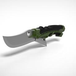 Download STL file New green Goblin knife 3D printed model • 3D printable template, vetrock
