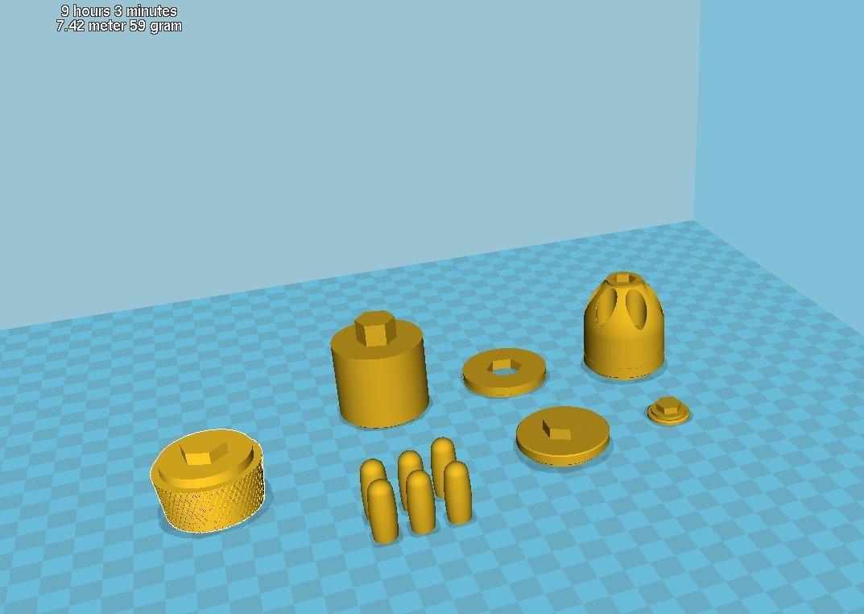 041.jpg Download 3MF file Glue grenade from the video game Batman: Arkham Origins • 3D printer model, vetrock