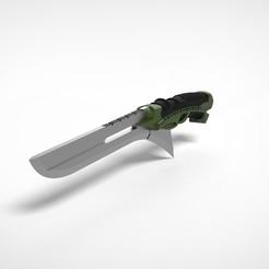 Download STL file New green Goblin sword 3D printed model • 3D printing design, vetrock