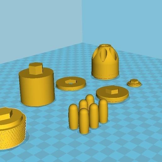 039.jpg Download 3MF file Glue grenade from the video game Batman: Arkham Origins • 3D printer model, vetrock