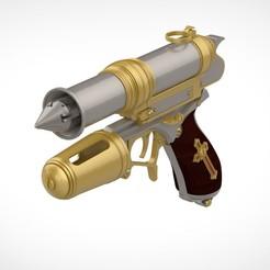 4.jpg Download STL file Grappling gun from the movie Van Helsing 2004 • 3D printing template, vetrock