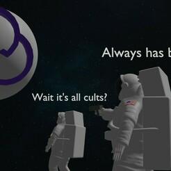 astro meme2.jpg Download STL file Astronauts meme figures (wait it's all...) • 3D printing object, GoatDix