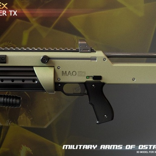 Download free 3D printing templates Widowmaker TX from Deus Ex, krisnaas14