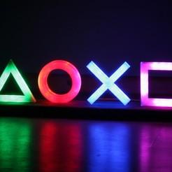 Impresiones 3D gratis Icono de la Playstation LED, smart3dprint