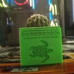 Télécharger objet 3D pot de tortue tribal, alexfontesla