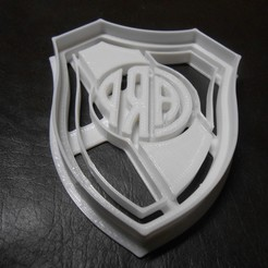 Download 3D printer templates Cookie Cutter. Cookie Cutter fondant dough.River, Centenario3D