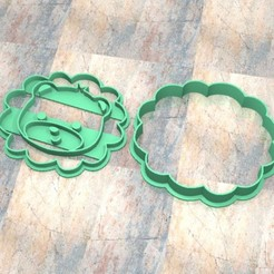Descargar modelo 3D Cookie Stamp/Cutter. Cortante/Sello galletita masa fondan. Leon b, Centenario3D