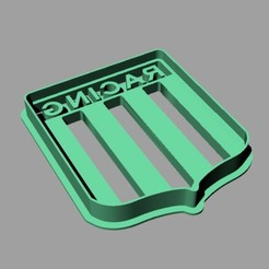 Download 3D printer designs Cookie Cutter. Cookie Cutter fondan dough. Racing club, Centenario3D