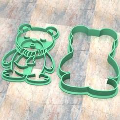 D_Oso a.jpg Télécharger fichier STL Timbre/tampon à biscuits. Cortante/Pâte à biscuits. Portez à • Modèle à imprimer en 3D, Centenario3D
