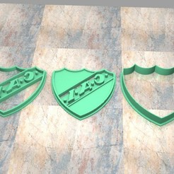 Download 3D printing designs Cookie Stamp/Cutter. Cortante/Cutter cookie dough. Independent Shield, Centenario3D