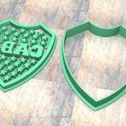 Download 3D printer templates Cookie Stamp/Cutter. Cortante/Cutter cookie dough. Junior Mouth Shield, Centenario3D