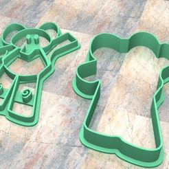 Download STL files Cookie Stamp/Cutter. Cortante/Cutter cookie dough. Pocoyo Elly, Centenario3D