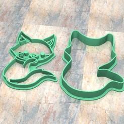 D_Gato b.jpg Télécharger fichier STL Timbre/tampon à biscuits. Cortante/Pâte à biscuits au timbre fondan.Gato b • Plan pour impression 3D, Centenario3D