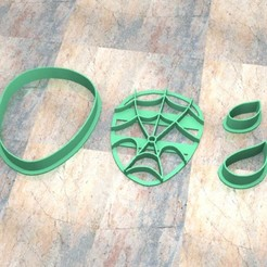 D_Cabeza_1.jpg Download STL file Cookie Stamp/Cutter. Cortante/Cutter cookie dough. Spider-Man Head • Template to 3D print, Centenario3D