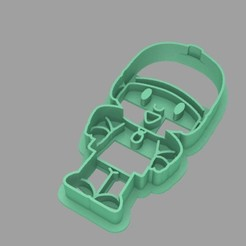 Download 3D printing files Cookie Cutter. Cookie Cutter fondan dough. Pocoyo, Centenario3D