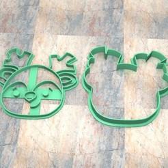 CyS_D_Reno Navidad_001.jpg Télécharger fichier STL TIMBRE/TAMPON À BISCUIT. TIMBRE À BISCUIT/PÂTE À FONDRE. Rennes de Noël_001 • Design pour imprimante 3D, Centenario3D