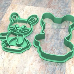Descargar archivos 3D Cookie Stamp/Cutter. Cortante/Sello galletita masa fondan.Conejo a, Centenario3D
