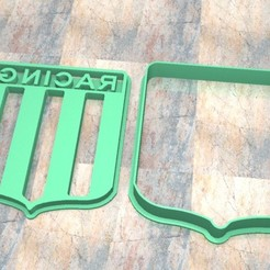 Download 3D printer designs Cookie Stamp/Cutter. Cortante/Cutter cookie dough. Racing Club Shield, Centenario3D