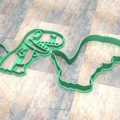 Download 3D printer files Cookie Stamp/Cutter. Cortante/Cutter cookie dough. Tyrannosaurus, Centenario3D