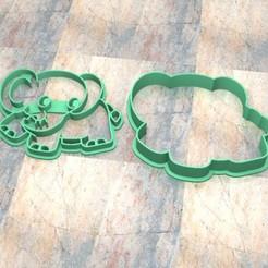 D_Elefante a.jpg Télécharger fichier STL Timbre/tampon à biscuits. Timbre/tampon à biscuits. • Modèle pour impression 3D, Centenario3D