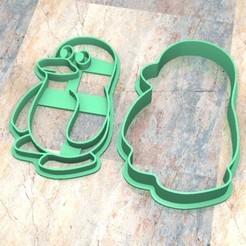 Download 3D printing files Cookie Stamp/Cutter. Cortante/Stamp cookie dough fondan.Pingüino a, Centenario3D