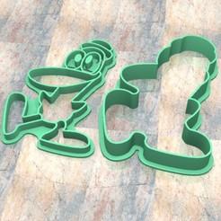 D_Pocoyo Pato.jpg Télécharger fichier STL Timbre/tampon à biscuits. Cortante/Pâte à biscuits. Canard Pocoyo • Objet imprimable en 3D, Centenario3D