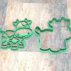 CyS_D_Vaca_001.jpg Download STL file COOKIE STAMP/CUTTER. COOKIE STAMP/CUTTER FONDAN DOUGH. Cow_001 • 3D printing template, Centenario3D